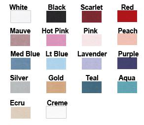 corset trim colors